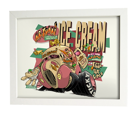 MR. YUMMI Ice Cream limited edition print