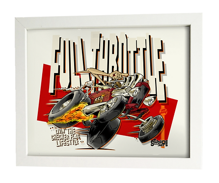 FULL THROTTLE limited edition print