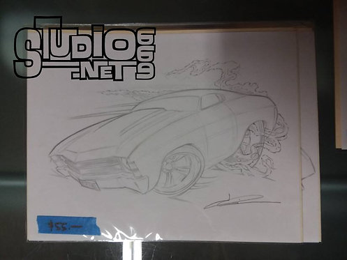Chevelle 1original pencil art