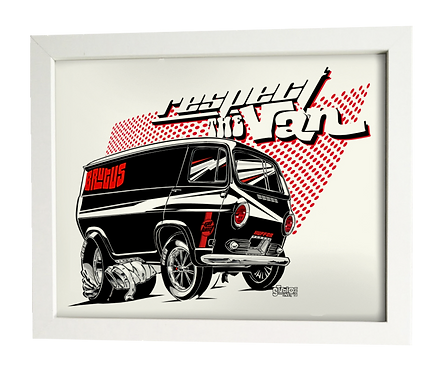 R.T.V. G10 BRUTUS Chevy limited edition print