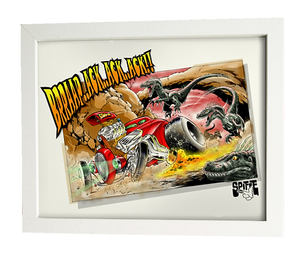 Raptor-Pursuit limited edition print