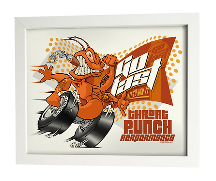 GO FAST race ant limited edition print