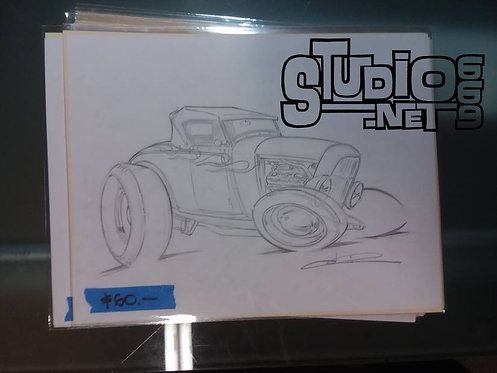 Happy original pencil art