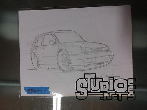 R32 original pencil art