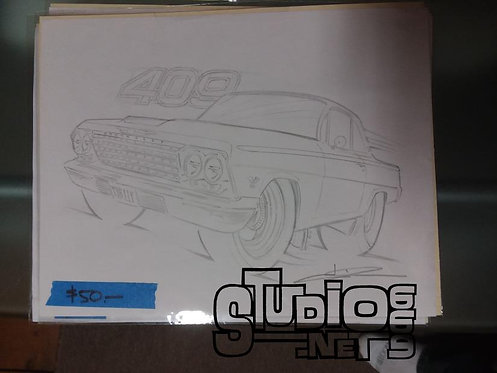 Bubbletop 409 original pencil art