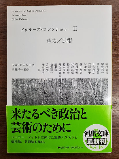 ドゥルーズ・コレクション Ⅱ 権力/芸術
