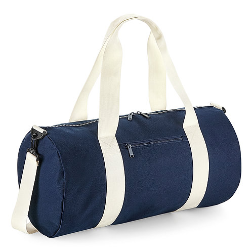Large Navy Barrel Bag
