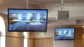 Panasonic screens and Tannoy VX8 at Gurdwara Guru Granth Sahib