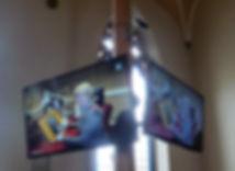 Panasonic HD screens at Lenzie Old Parish Church