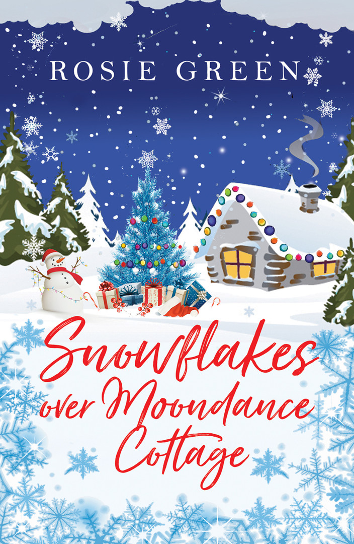 SNOWFLAKES OVER MOONDANCE COTTAGE_FRONT_
