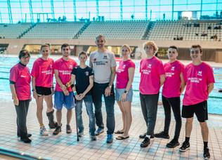 GB Paratriathlete Champion Visits Marathon Swims 2019