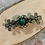 Thumbnail: Bronze, Single stone, Flower, Barrette