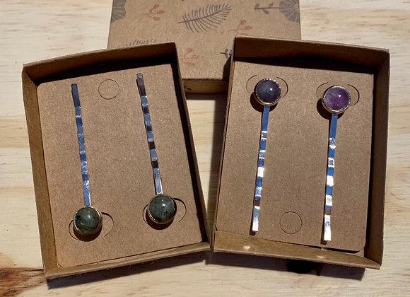 8mm Natural Stone Hairpin sets