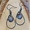 Thumbnail: Stainless and 8mm Stone Earrings