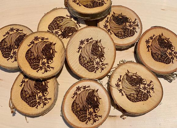 Wood engraved magnet-Fundraiser