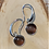 Thumbnail: 10mm Stainless and Stone Earrings