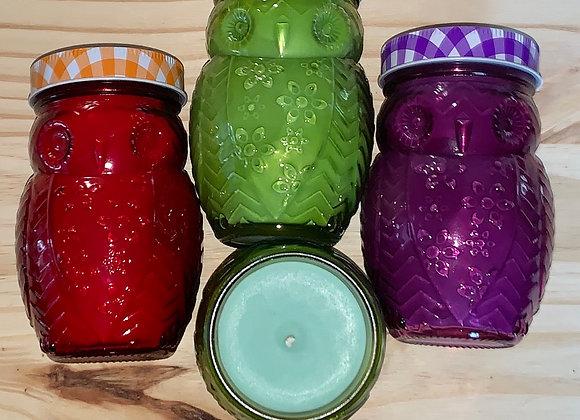 14 oz Soy Owl Jar Candles