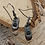 Thumbnail: Minimalist Pewter stamped earrings