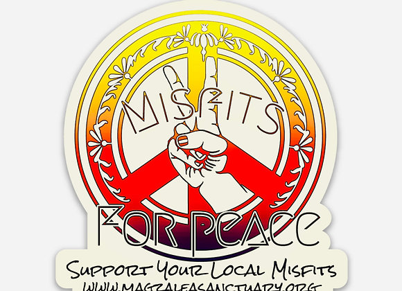 "Misfits For Peace 2.87"" x 3"" Magnet"