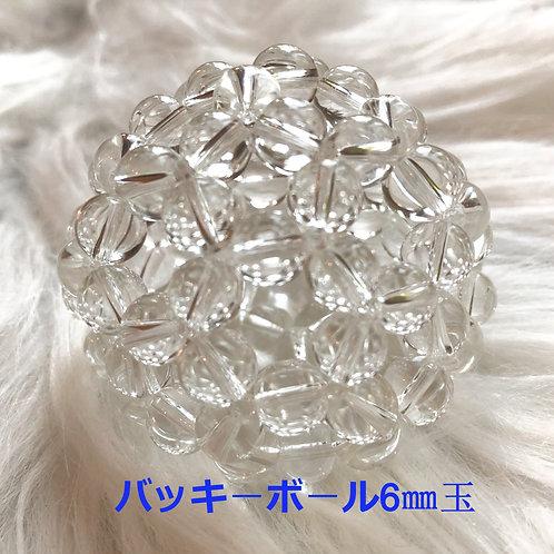 バッキ-ボ-ル 水晶6㎜玉90個使用♪