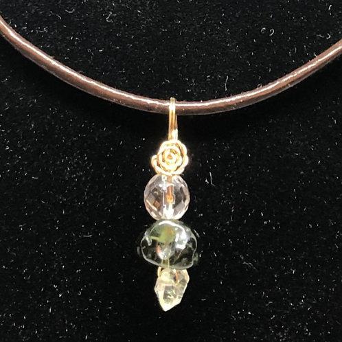 モルダバイト、ヒマラヤ水晶、ハ-キマ-ダイアモンド