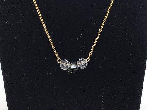 モルダバイト、ヒマラヤ水晶プチネックレス