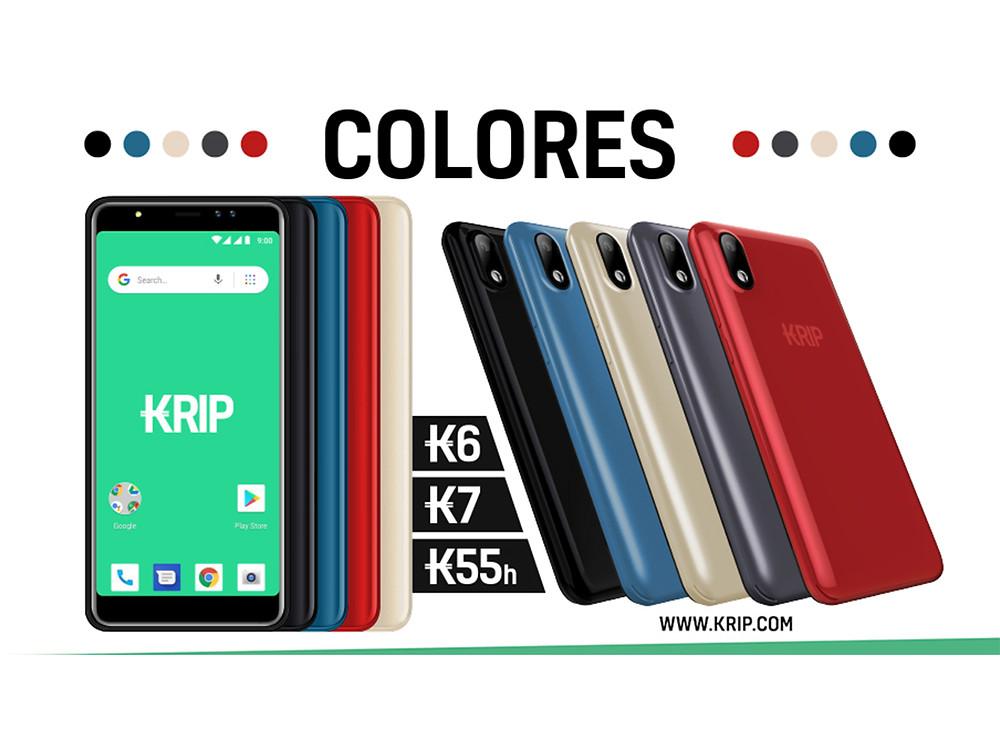 KRIP incorpora a sus modelos una amplia gama de colores.
