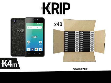 """""""Ni cargador, ni audífonos""""KRIP lanza el K4m, su nuevo modelo sin accesorios."""