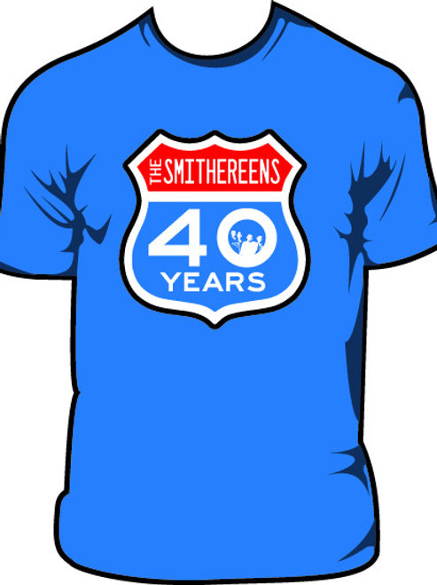 "Blue ""40 Years"" Highway Sign 40th Anniversary T-Shirt"