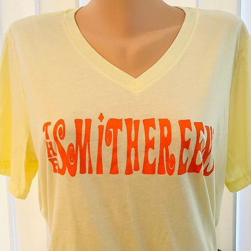 Woman's Cut V-Neck T-Shirt - Yellow