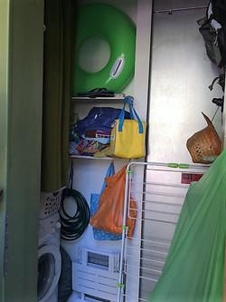 shed with washing machine