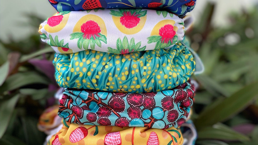 6 Pack Cloth Diapers