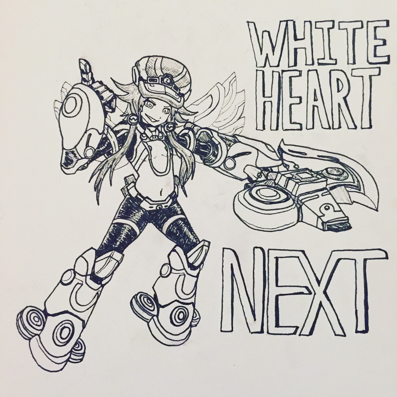 Inktober Day 26: White Heart NEXT