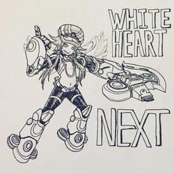 Inktober Day 26: White Heart NEXT