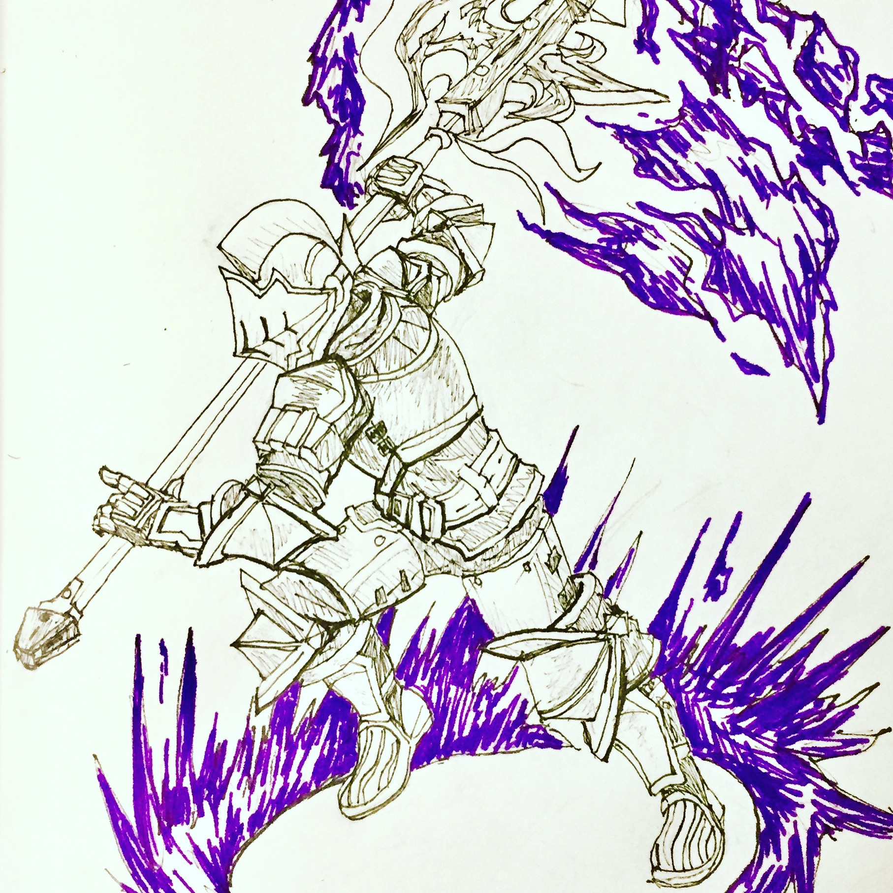 Inktober Day 7: Rekusha Limit Break