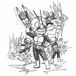 Inktober Day 2: Kamen Rider Ichigo