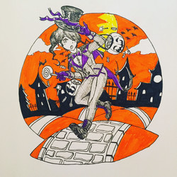 Inktober Day 31: Trick or Treat Lily