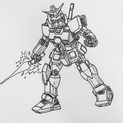 Inktober Day 1: Rx-78-2 Gundam