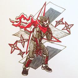 Inktober Day 20: Shadowman