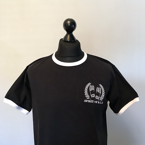 Black / White Ringer Tees Embroidered