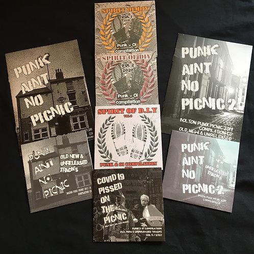 6 pack - Vol 1 - 3 Spirit of DIY and Vol 1 - 3 Punk ain't no Picnic