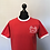 Thumbnail: Red / white Ringer Tees Embroidered