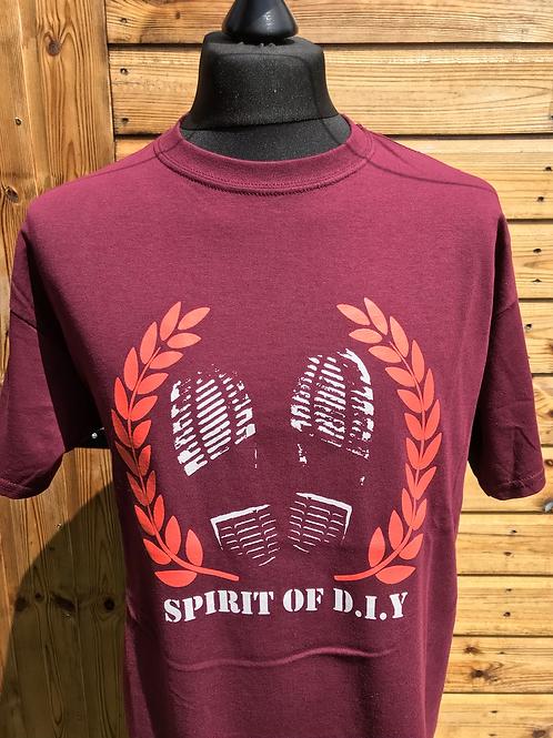 Spirit Of DIY T-shirts CLARET