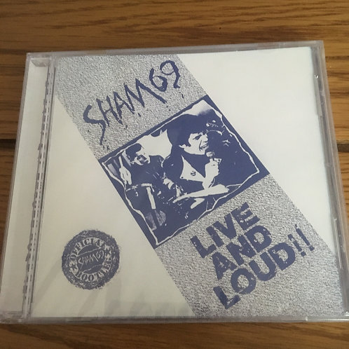 Sham 69 Live and Loud CD