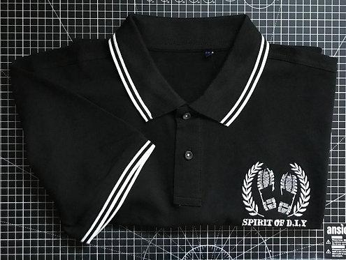 Black / White Embroidered Polo