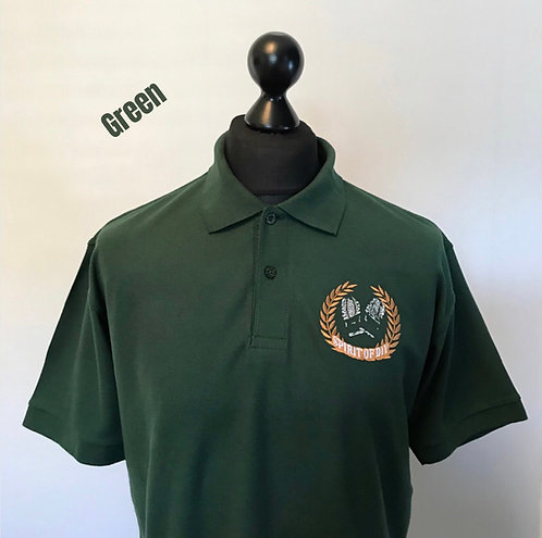 Spirit of DIY Polo Shirt Green