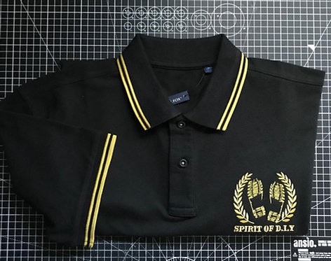 Black / Yellow Embroidered Polo