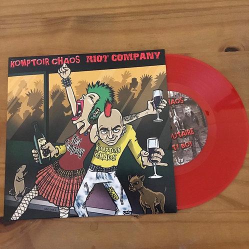 "Komptoir Chaos | Riot Company 7"" RED VINYL Split EP"