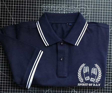 Navy / White Embroidered Polo