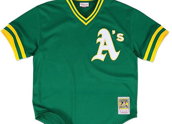 Authentic BP Jersey Oakland Athletics 1991 Rickey Henderson